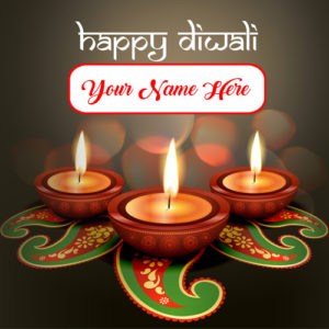 Name Pix Happy Diwali Candles Card Picture Edit Online
