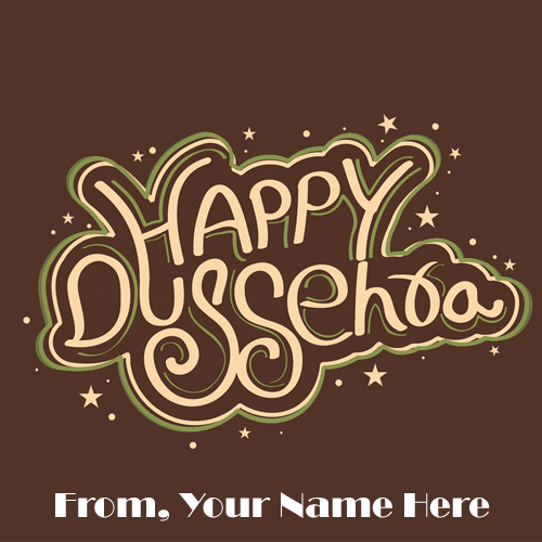 Special Custom Name Writing Dussehra Wishes Photo Edit
