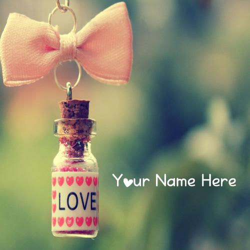 Write Name Love Cute Wish Jar Profile Set Image