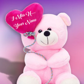 Beautiful Miss U Teddy Lover Name Profile Image Free