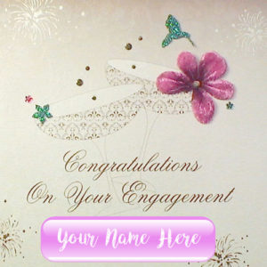Congratulations Engagement Greeting Card Name Wishes Image