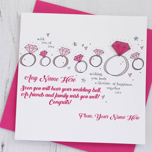 Design Engagement Wishes Greeting Card Name Write Profile