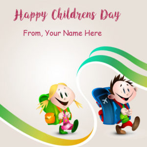 Happy Children Day Wishes Name Picture Online Editing