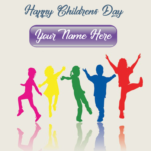 Special Name Wishes Children Day Greeting Card Photo
