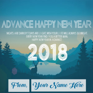 Advance New Year 2018 Wishes Name Editor Photo Sent