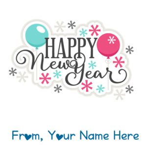 Design New Year 2018 Card Special Name Wishes Image