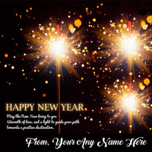 Happy New Year 2018 Greeting Card Write Name Wishes Image
