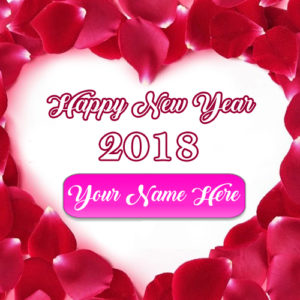 Happy New Year Wishes Love Greeting Name Card Sent