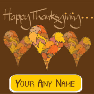 Happy Thanksgiving Day Stylish Name Wishes Card Edit Online