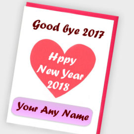 Online Name Write Love Greeting Card Happy New Year 2018