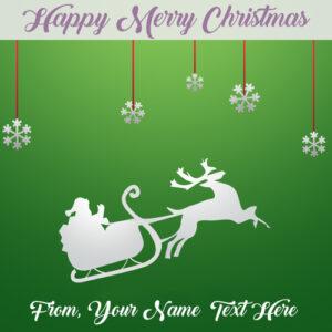 Personalised Xmas Christmas E Cards Name Write Photo