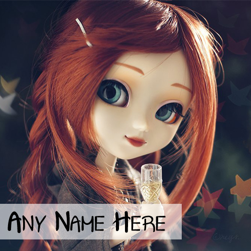 Smile Cute Doll Profile Set Name Picture Online Create