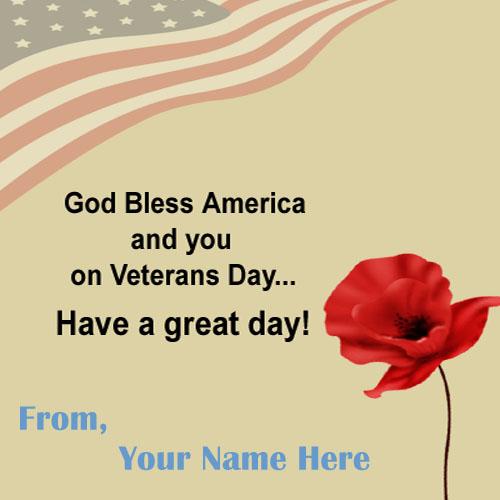 USA Celebration Happy Veterans Day Wishes Greeting Image