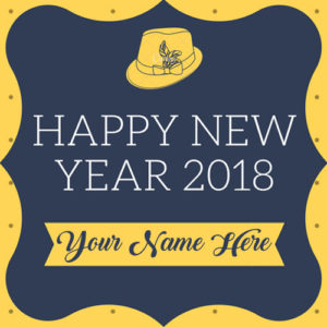 Amazing New Year 2018 Greeting Card Special Name Wishes Image