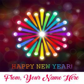 Beautiful New Year Greeting Card Name Edit Photo Sent Online