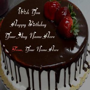 Custom Name Write Birthday Chocolate Cake Wishes Picture Editor
