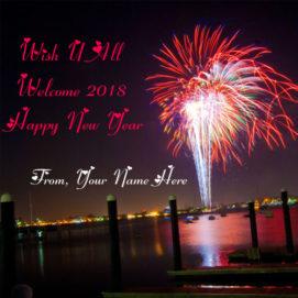 Eva New Year Celebration Name Greeting Wishes Card Sent Online