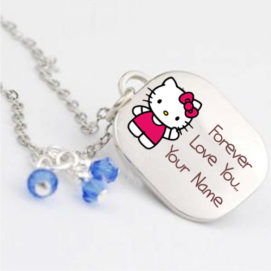Forever Love U Cute Pendant Lover Name Write Image