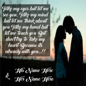 Love Hug Couple Quotes Picture Names Write Online Edit
