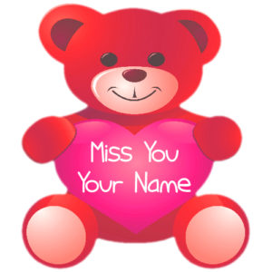 Name Write Beautiful Miss U Cute Teddy Bear Image Create