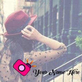 Selfie Camera Girl Name Profile Image Online Editor Photo