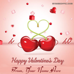 2018 Happy Valentine Day Name Write Greeting Cards Sent Online