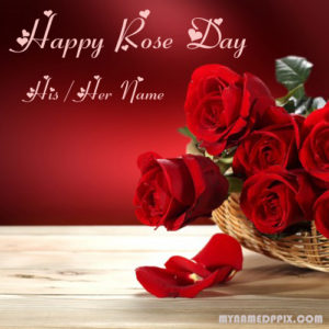 Create Boyfriend Name Rose Day Wishes Photo Sent Online Edit