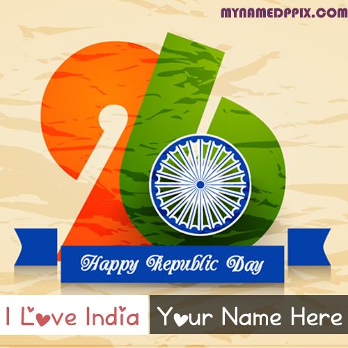 Facebook Profile Love India Happy Republic Day Name Image