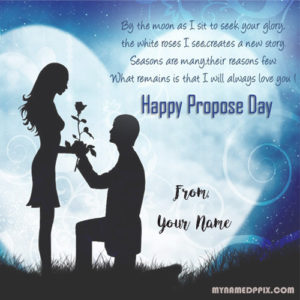 Happy Propose Day Greeting Card Name Write Wishes Pictures Editor