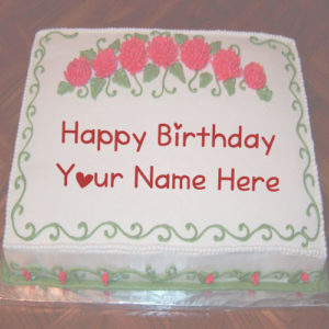 Latest Happy Birthday Cake Sent Name Wishes Pictures Online