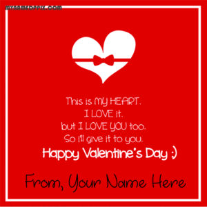 Latest Happy Valentine Day Greeting Quotes Card Name Edit Pictures