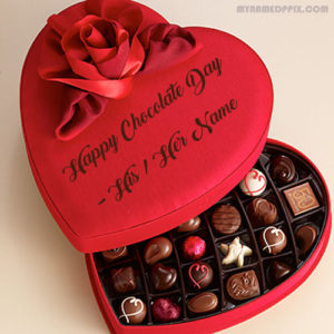 Unique Name Wishes Happy Chocolate Day Picture Sent Name Image