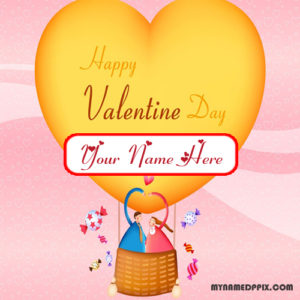 Valentines Day Love Greeting Card With Name Write Wishes Pictures