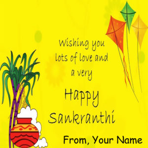 Wishing Lost of Love Kites Day Name Write Photo Edit Online