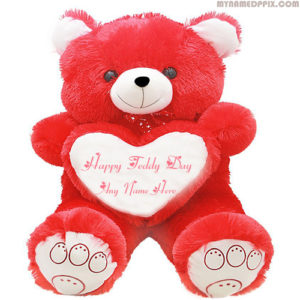 Write Name Teddy Day Wishes Beautiful Teddy Sent Images