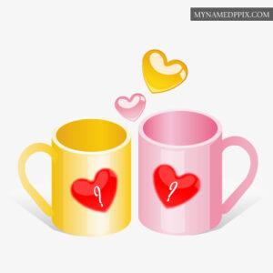 Beautiful Mug Cups Profile Couple Name First Letter Photos