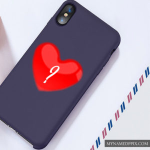 Mobile Stylish Heart Back Cover Alphabet Name Letter HD Pics