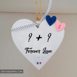 Online Initial Couple Name Alphabet Letter Heart Profile Image