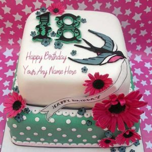 18th Age Happy Birthday Cake With Name Image Online Send Photo