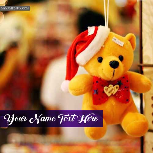 Beautiful Teddy Bear With Name Profile Image Online Create