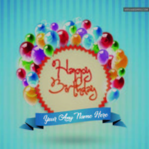 Birthday Wishes Beautiful Balloon Card Friend Name Write Images