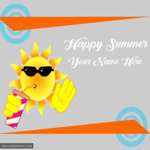 Cool Sun Happy Summer Profile Pictures Write Name Images