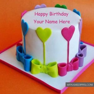 Fondant Happy Birthday Cake With Friend Name Wishes Pictures Send