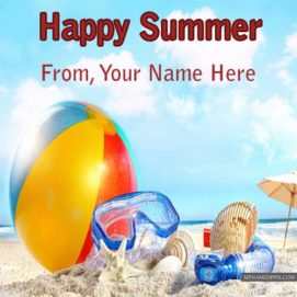 Happy Summer Name Write Wishes Wallpapers Sent Profile
