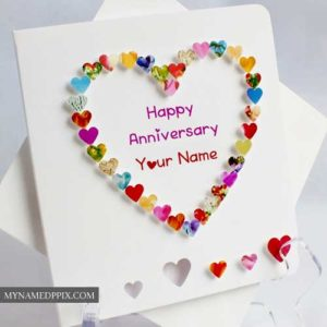 Name Write Beautiful Heart Design Anniversary Card Create