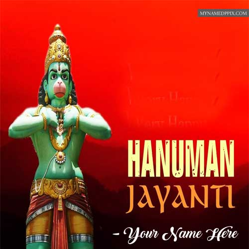 Online Name Edit Special Wishes Hanuman Jayanti Wallpapers HD