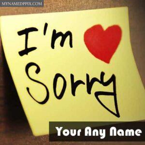 Sorry Image Write Name Photo Create Send Online