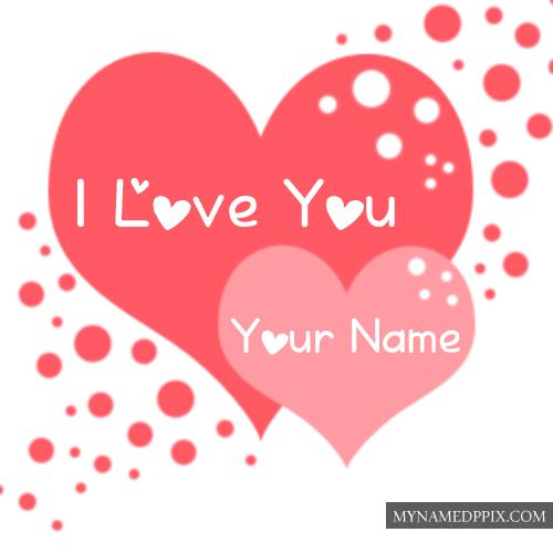 Beautiful I Love U Name Write Profile Greeting Card Pictures