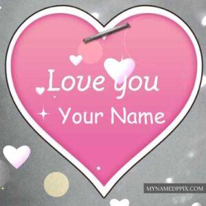 Write Boy Girl Name Love U Greeting Card Profile Pictures