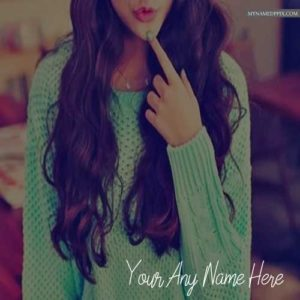 Write Name Cool Style Girl Profile Photo Online Name Edit